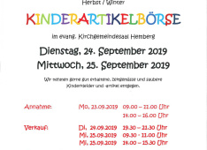 Kinderartikelbörse 2019 September