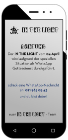 Whatsapp Gottesdienst am 4. April <div class='url' style='display:none;'>/</div><div class='dom' style='display:none;'>ref-toggenburg.ch/</div><div class='aid' style='display:none;'>188</div><div class='bid' style='display:none;'>6727</div><div class='usr' style='display:none;'>115</div>